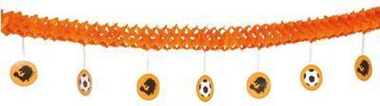 Oranje crepe slinger met hangers
