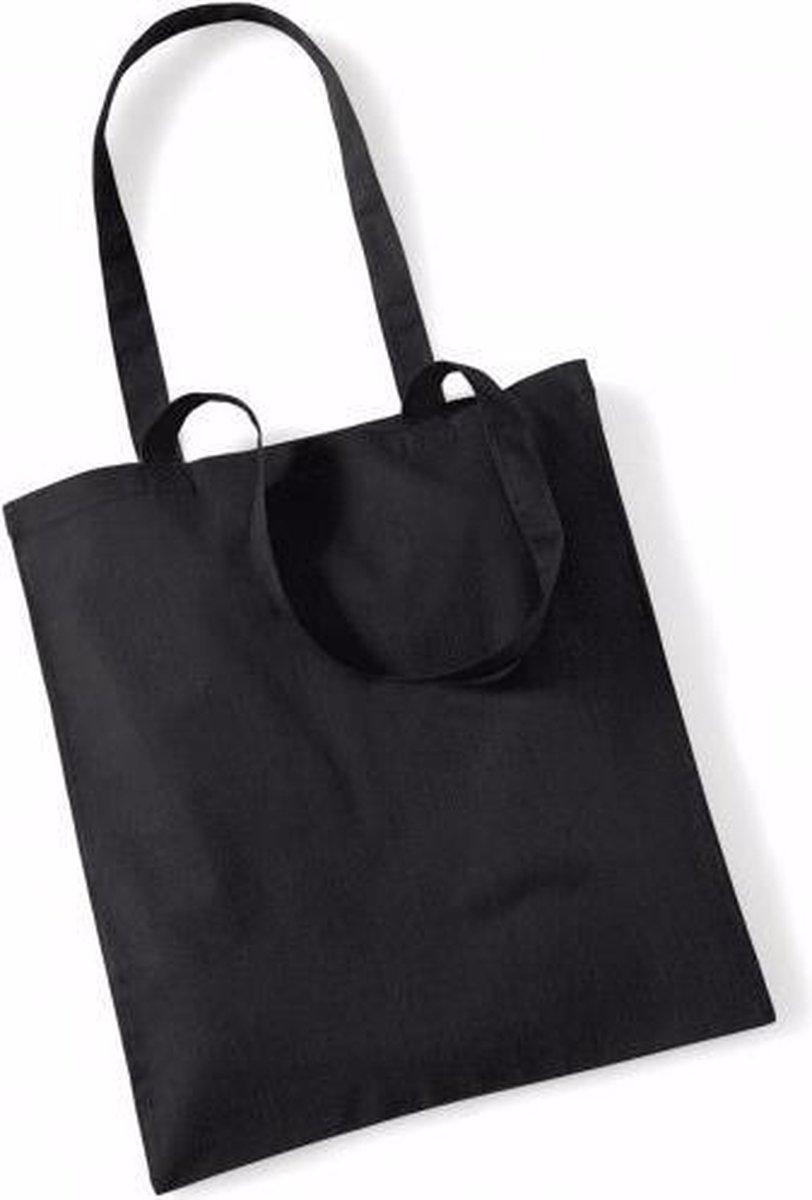 Katoenen tasje - zwart - 42 x 38 cm