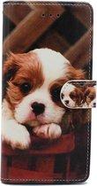 Samsung Galaxy A20e Hoesje met Print - Portemonnee Book Case - Kaarthouder & Magneetlipje - Puppy