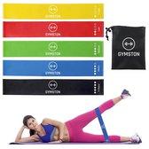 Gymston - Weerstandsbanden Set - 5 elastieken - met draagtas & E-Book