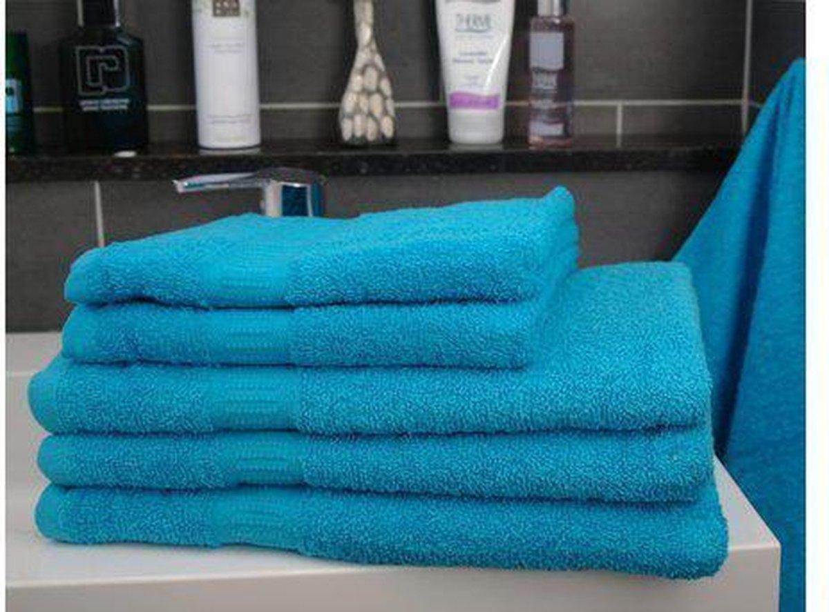 Katoenen Handdoek – Turquoise - Set van 3 Stuks – 70x140 cm - Heerlijk zachte badhanddoeken - Merkloos