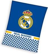 Real Madrid C.F. - Fleece - Plaid - 110x140 cm - Blue