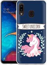 Galaxy A20 Hoesje Sweet Unicorn