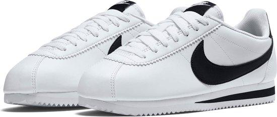 Nike Classic Cortez Leather  Sportschoenen - Maat 40 - Vrouwen - wit/zwart