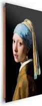 Johannes Vermeer - Meisje met de parel  - Oude Meester - Schilderij 60 x 90 cm
