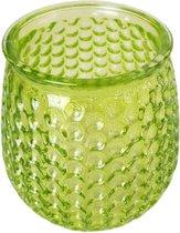 Theelichthouder EVELIEN - Groen - Glas - Ø8 x h10 cm