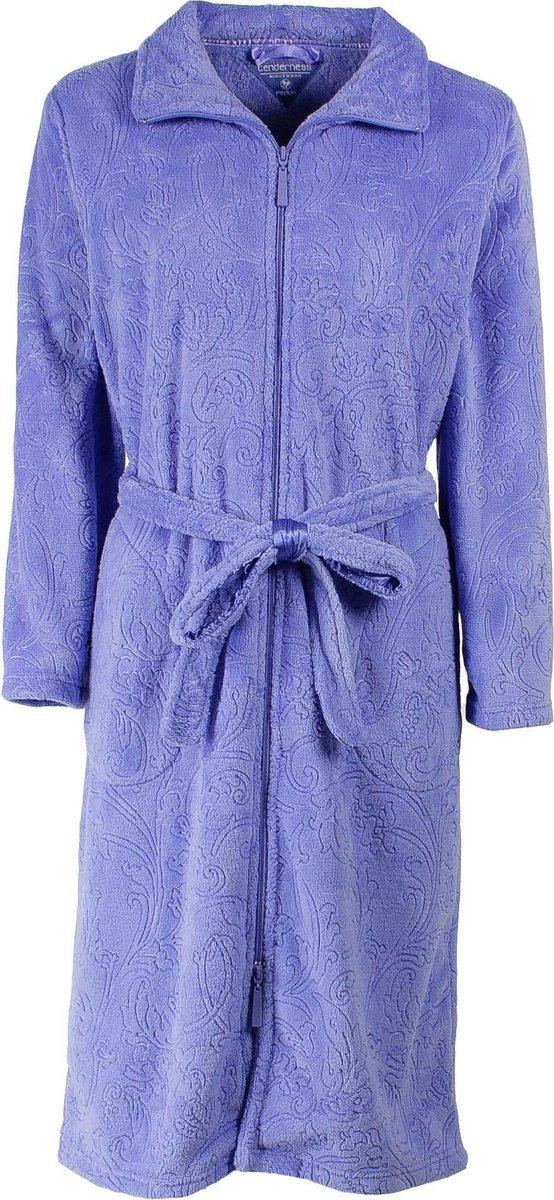 Tenderness Dames Badjas Blauw Maten: XL - Tenderness