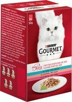 Gourmet Mon Petit - Tonijn, Zalm en Forel - Kattennatvoer - 24 x 50 g