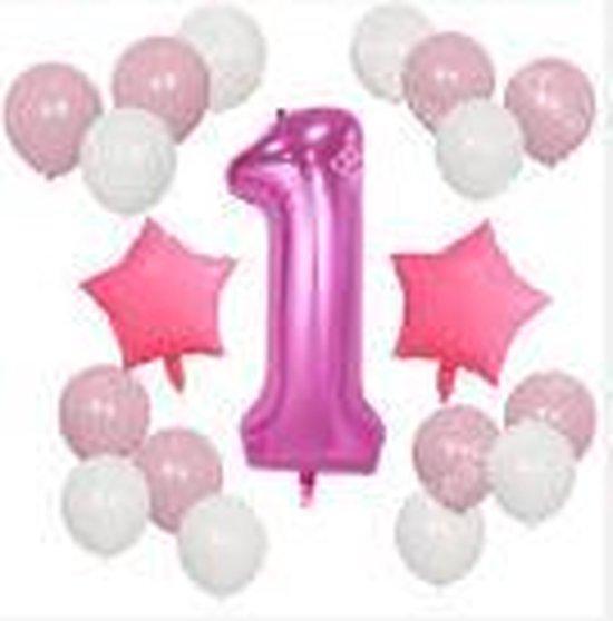 Folie ballonnen, eerste verjaardag, meisje