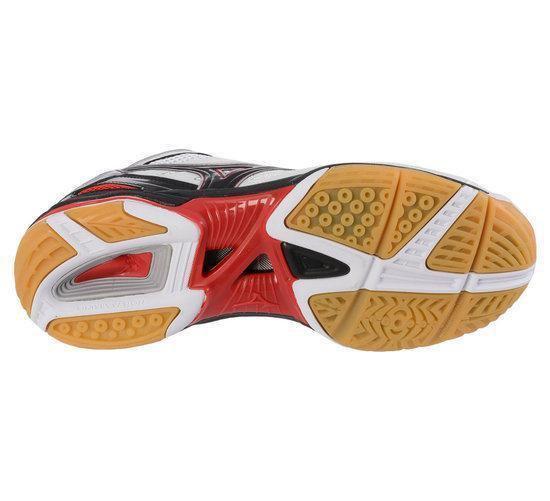 Mizuno Wave Rally  Mid - Sportschoenen - 43 - Wit;Zwart;Rood