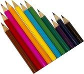 Clown Kleurpotloden - 12 stuks - Multicolor
