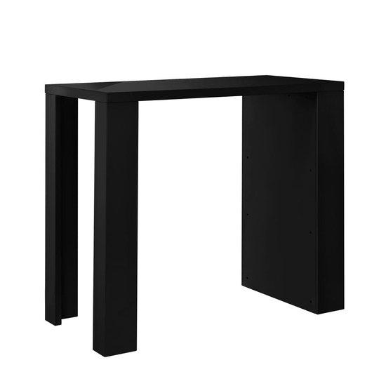 Bartafel met ingebouwde planken 117x57x106,5 cm zwart - en.casa
