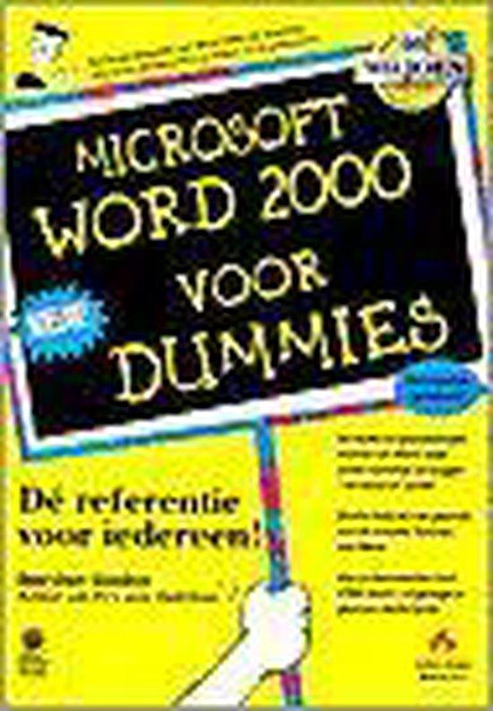 Microsoft Word 2000 voor Dummies - D. Gookin |