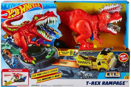 Hot Wheels City T-Rex Rampage Speelset - Racebaan