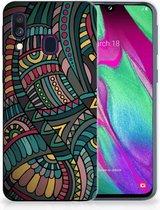 Samsung A40 TPU Silicone Hoesje Design Aztec