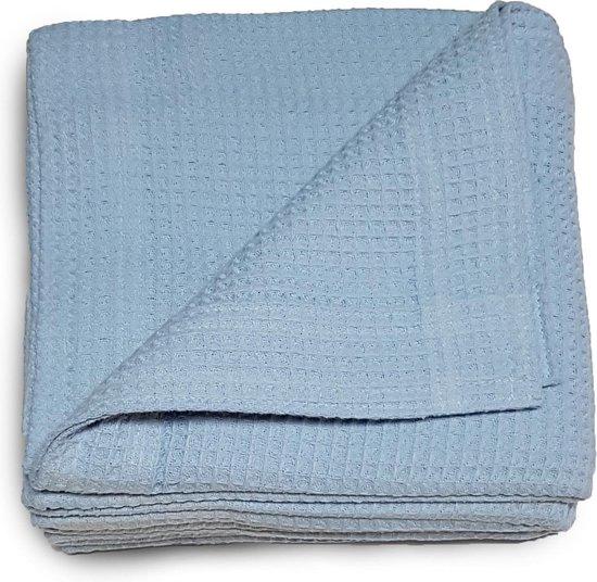 Damminga - Wafeldeken - Bedsprei - Zomerdeken - Hotelkwaliteit - 220 x 250 - Tweepersoons - Blauw