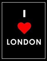 I Love London Notebook