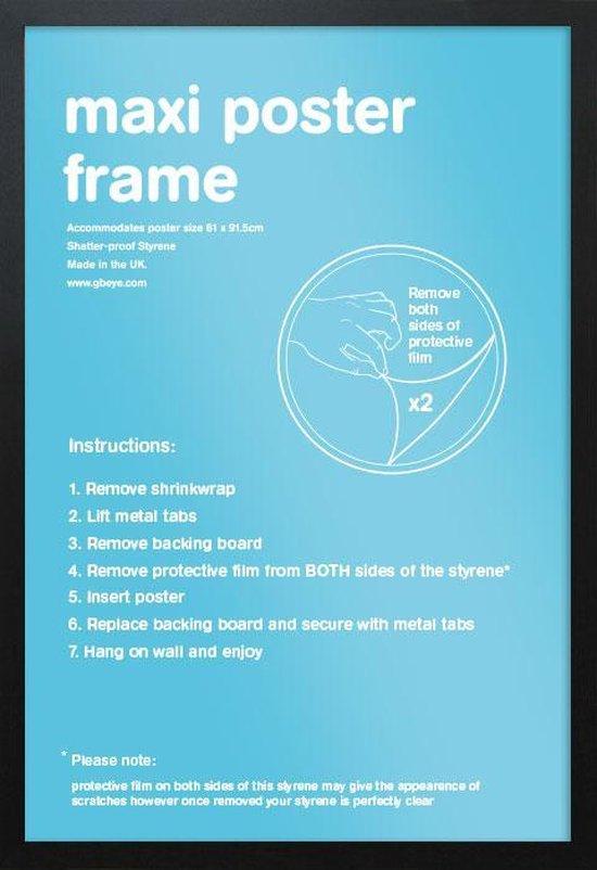 Wissellijst-Posterlijst-Fotolijst-houten zwarte rand-formaat 50x70cm. Aanbieding