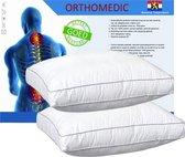 OrthoMedic Box Hoofdkussen - 50x60x10 cm - Wit - 2 stuks
