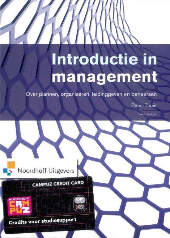 Introductie in management - Peter T.H.J. Thuis pdf epub