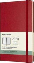 Afbeelding van Moleskine Agenda - 12 Maanden - Wekelijks - Large (13x21cm)  - Rood - Harde Kaft