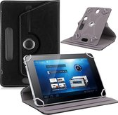 7 inch tablet hoesje 360 Draaibaar zwart universeel