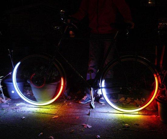Fietswielverlichting - led multicolor ventiellampjes - 2stuks