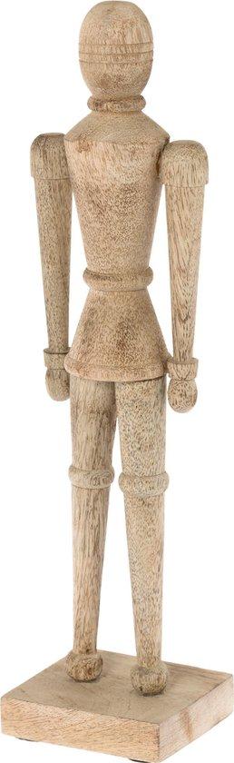 Ornament hout Nate naturel 43cm