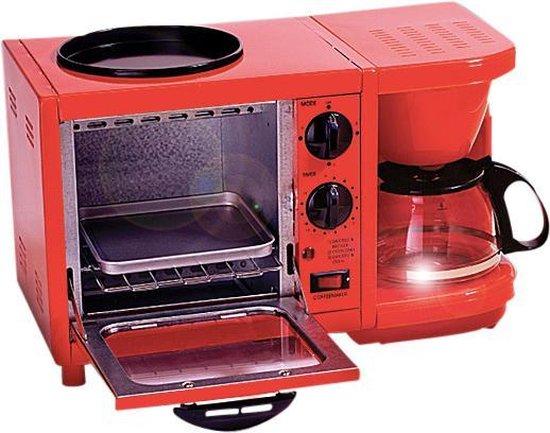 Retro Line Ontbijtmachine Rood