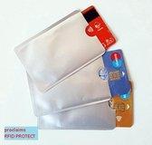 Proclaims Bankpas OV-ID kaart beschermer - RFID blocker Zilver 10 stuks
