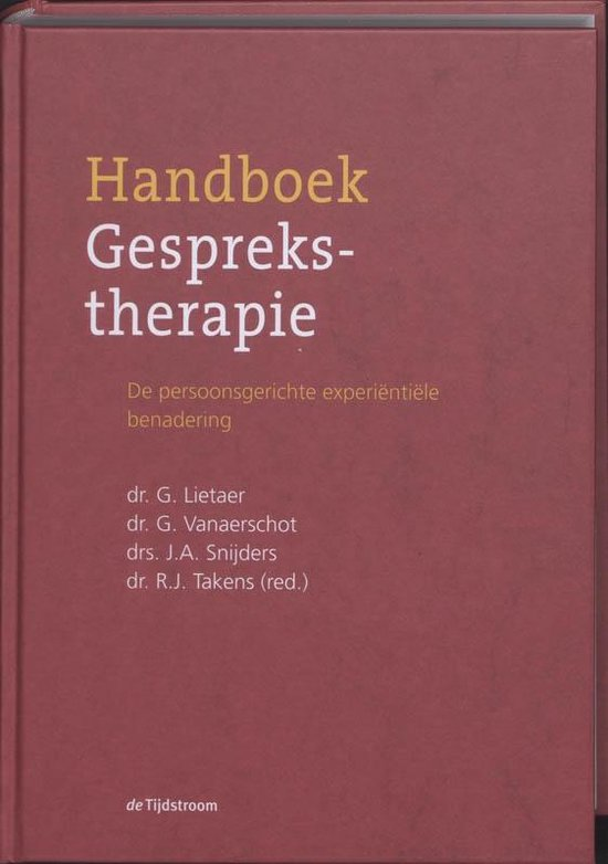 Handboek Gesprekstherapie - G. Lietaer pdf epub