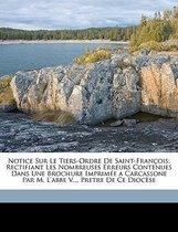 Notice Sur Le Tiers-Ordre De Saint-Franois