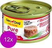 Gimdog Little Darling Pure Delight - Tonijn & Rund - Hondenvoer - 12 x 85 g
