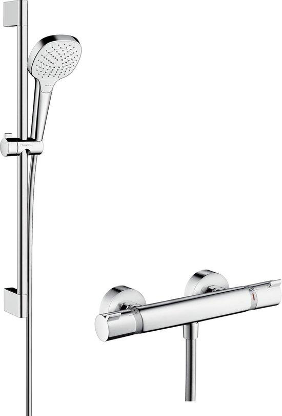 Hansgrohe Ecostat Comfort Thermostatische Douchekraan - Met Croma Select E Vario Doucheset - 65 cm - 15 cm hartafstand - Chroom