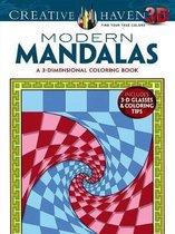 Creative Haven 3-D Modern Mandalas Coloring Book