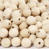 Houten kralen, d: 15 mm, china berry, 500 stuks