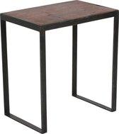 Raw Materials Factory bijzettafel - 45x30x50 cm - Metaal - Gerecycled hout