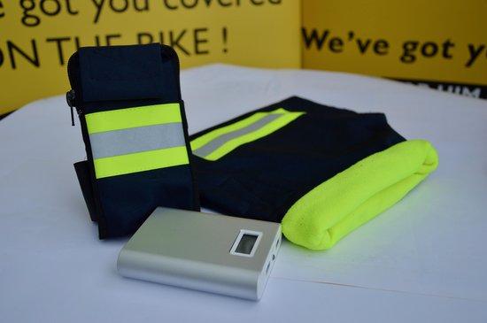 HATSOME verwarmde fietswanten (Sport) Neon yellow