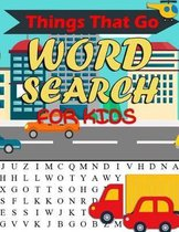 Things That Go Word Search for Kids
