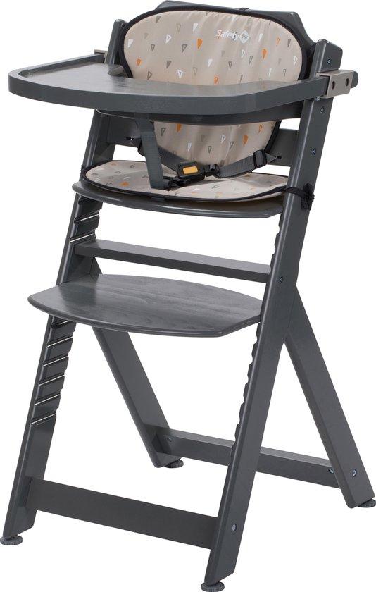Product: Safety 1st Timba Kinderstoel - Met Kussen - Warm Grey Wood/Warm Grey - 2019, van het merk Safety 1st