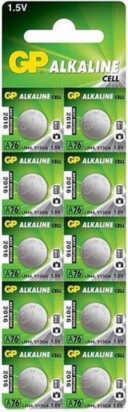 GP Alkaline knoopcel  76A/V13GA/LR44 - blister 10