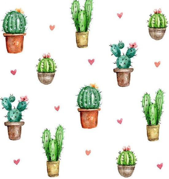 Servetten Cactus Love - 40 stuks - 33  X 33 Cm