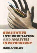 Qualitative Interpretation and Analysis in Psychology