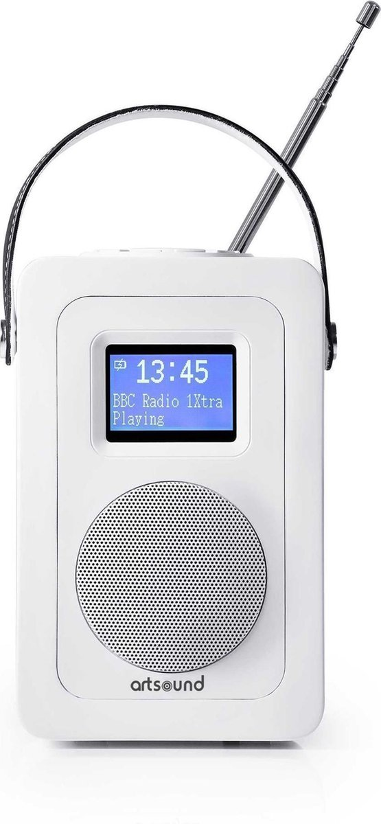 ArtSound R4W, portable radio, FM/DAB+, wit