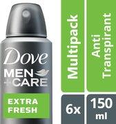 Dove Men+Care Cool Fresh - 150 ml - Deodorant - 6 stuks - Voordeelverpakking