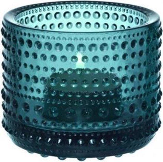 Iittala Kastehelmi - Waxinelichtjeshouder - Sfeerlicht - h 6.4 cm - Zeeblauw
