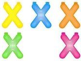 Opblaas letter X  Blauw