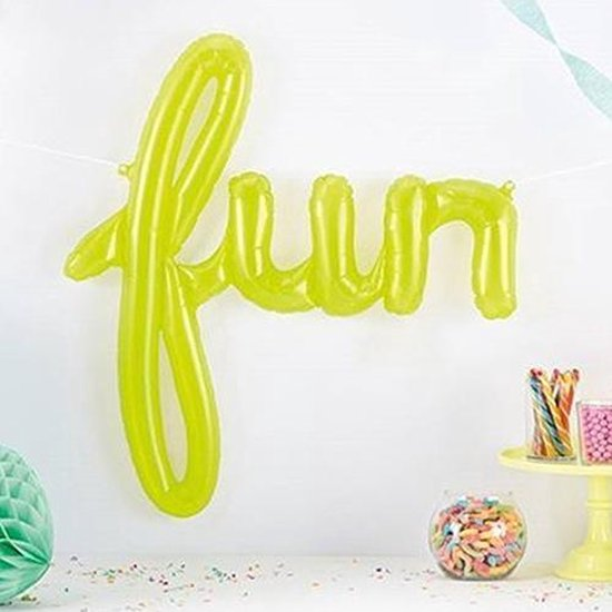 Folieballon 'Fun' - Limegroen
