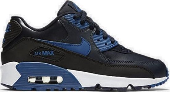 Nike Air Max 90 (GS) Kinder Sneakers Leer Blauw / Zwart 833412-402 / Maat 39