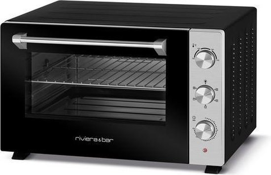 Riviera & Bar QFR600 oven 60 l 2200 W Zwart, Roestvrijstaal